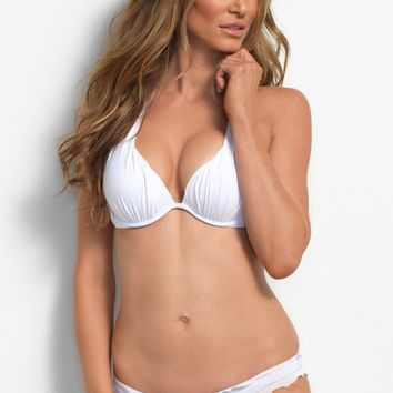 White Push Up Bikini Top