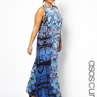 ASOS CURVE Exclusive Maxi Dress In Floral Gate Print