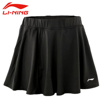 LI-NING Tennis Skirts Microfiber Spandex Jersey Solid Breathable Quick  Dry Sport Training Skirts Women LINING ASKK162 WQB787