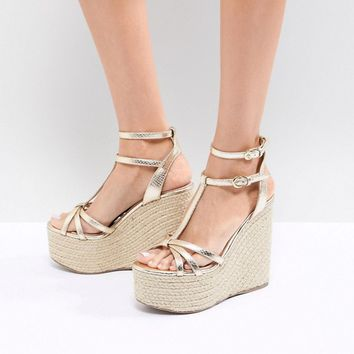 Miss KG Rope Super Stacked Wedge at asos.com