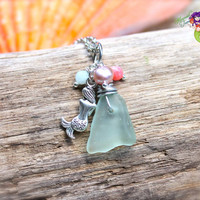 Sea Glass Jewelry, Mermaid Necklace made in Hawaii by Mermaid Tears, Ocean Inspired