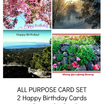GREETING Photo Card set; assorted, text on outside, by PonsArt; $18.00