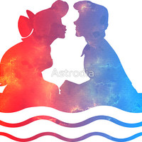 'Boat Ride Kiss' Sticker by Astrodia