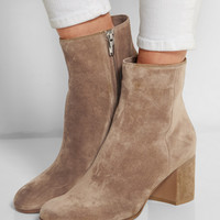 Gianvito Rossi   Suede ankle boots   NET-A-PORTER.COM