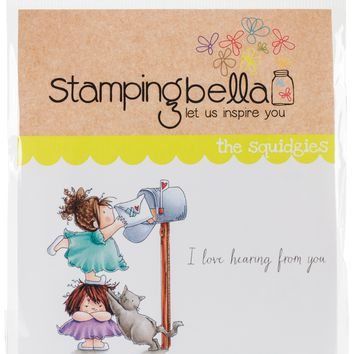 Stamping Bella Cling Stamps-Snail Mail Squidgy