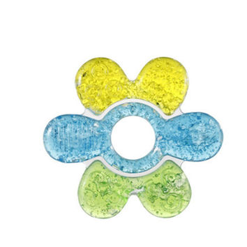 Baby Teether Toy Colorful Flower Rattle Toy BPA Free Age for 3 Months and up