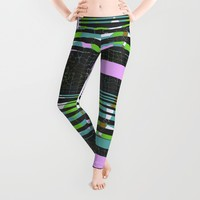 PINK PIPE, modern DESIGN, 3D illusion Leggings by ACKelly