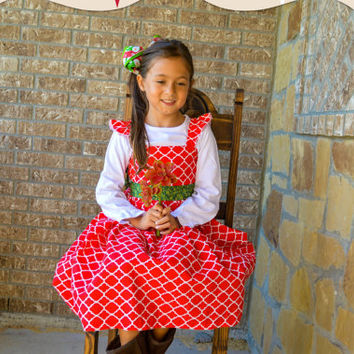 Girls Christmas dress, siblings matching, Brother and sister, sisters matching Christmas outfit