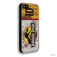Jurassic Park Jeep Licensed Iphone 4 4s 5 5c 6 6plus Case (iphone 5 black)