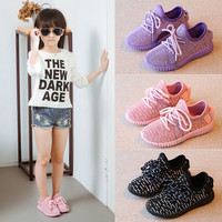 Children Shoes New Summer Autumn Casual Shoes Yeezy Sneaker Baby Boy Girls Kid shoes Breathable High Quality Walking Shoes
