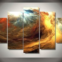 Seasonal Storm Elegant 5-Piece Wall Art Hanging