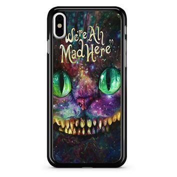 We Are All Mad Here Alice In Wonderland iPhone X Case