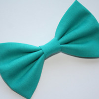Teal Hair Bow or Teal Bow Tie - Teal Bows - Turquoise Hair Bow - Turquoise Bow Tie