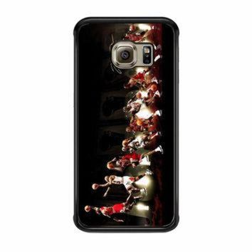 CREYUG7 Michael Jordan NBA Chicago Bulls Dunk Samsung Galaxy S6 Edge Case