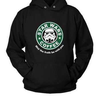 ICIK7H3 Star Wars Starbucks Funny Fanmade Hoodie Two Sided