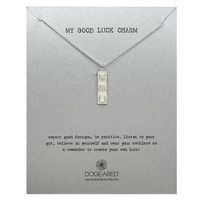 my good luck charm necklace, sterling silver, 24 inch - Dogeared
