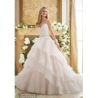 Mori Lee 2873 Layered Ball Gown Wedding Dress