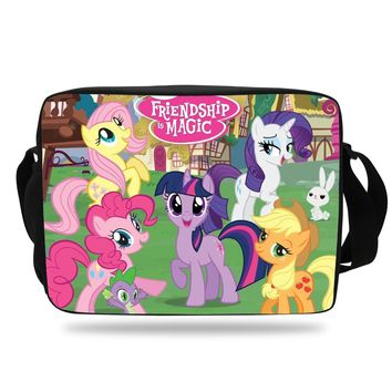 Shoulder Messenger Bags 2016 Fashion Women Bag Cartoon My Little Pony Shoulder Bag For Children Boys Girls Single Messenger Bag
