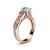 Special Reserved - Rose Gold Moissanite Engagement Ring