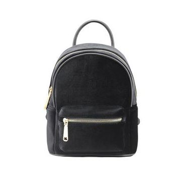 Student Backpack Children ZHIERNA 2017 Fashion Hight quality winter Velvet Student backpack patchwork zipper casual small light girl school preppy style AT_49_3
