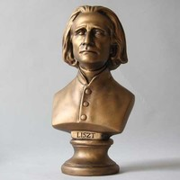 Liszt Composer Portrait Bust Small 11H - 7652