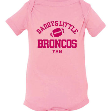 Daddys Little Broncos Fan Toddler And Youth T-Shirt Denver Fans Printed Tee for Kids Creepers & T-Shirts. Makes a Great Gift!!