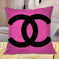 Chanel Pink on Square Pillow Cover