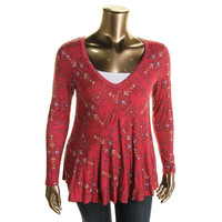American Rag Womens Plus Knit Printed Tunic Top