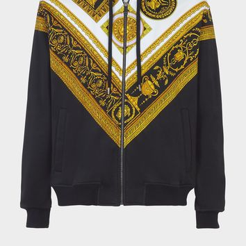 Versace Cornici Print Hoodie for Men | US Online Store