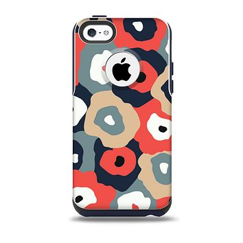 The Bulky Colorful Flowers Skin for the iPhone 5c OtterBox Commuter Case