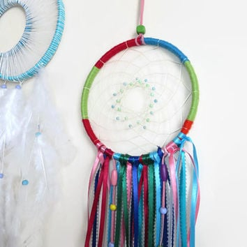 "6"" Multicolour Dream catcher. Large Dream Catcher. Baby Mobile.Bohemian Decor. Hanging Decoration"