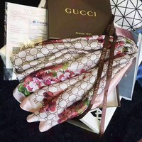 GUCCI Fashion Women Easy to match Silk Scarf H-YH-FTMPF
