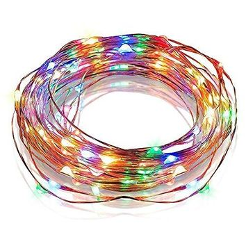 Starry String Light, USB Powered Copper Wire Lights for Outdoor,Indoor,Gardens, Homes, Patio, Xmas Party(100 LEDs, 33 ft, Multi-colour)