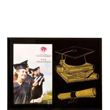 Graduation Cap and Diploma Photo Frame 8 5/8in x 6 5/8in | Party City