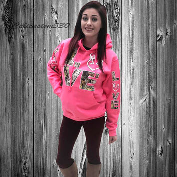 Pink & Camo Love Country Hoodie