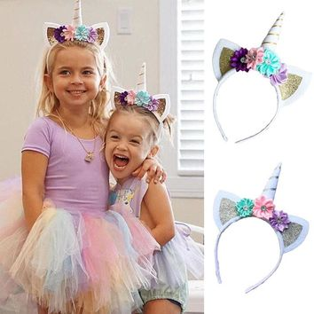 2017 Hot Magical Unicorn Horn Head Party Kids
