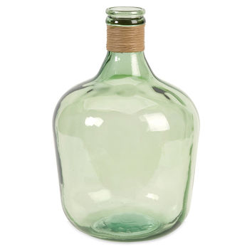 "17"" Courbet Recycled Glass Jug, Green, Jars, Canisters, Tins & Bottles"