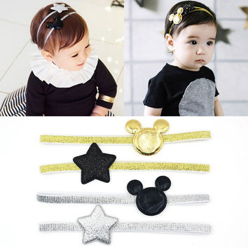 Choice of Mouse and Star Elastic Baby Headbands