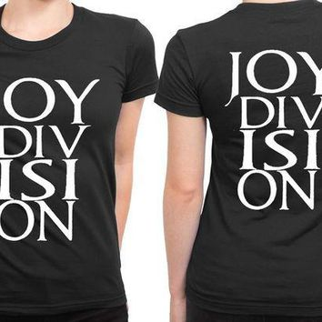 CREYH9S Joy Division Logo Larger 2 Sided Womens T Shirt