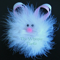 White Easter Bunny Hair Clip