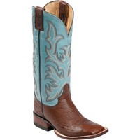 Justin Women's Remuda Series Smooth Ostrich Antique Brown Cowboy Boots