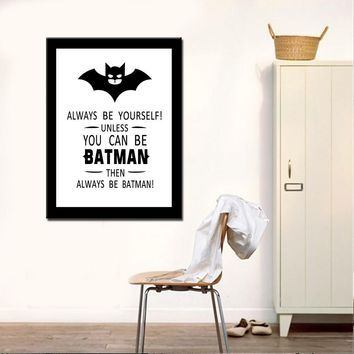Drop-shipping Oil Painting Canvas Prints Modern Batman Wall Art Picture for Living Room Home Decor No Frame
