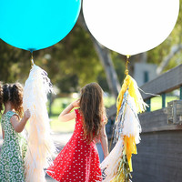 """Teal 36"""" Latex Giant Balloon with tassel garland - Wedding ,Photo Prop, Birthday , Engagement, Party Decoration"""