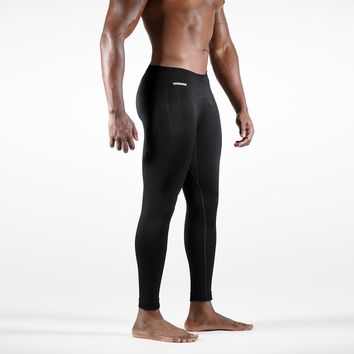 Knitted Seamless Black Tights for men