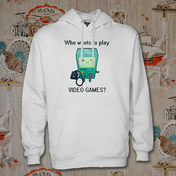adventure time let play game Hoodie,Unisex Adults Size,Available Color White Black