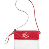 Custom Monogrammed or Personalized Purse/Clear Stadium Bag/Crossbody Bag/Stadium Purse