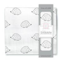 SwaddleDesigns Muslin Swaddle Blanket, Hedgehog