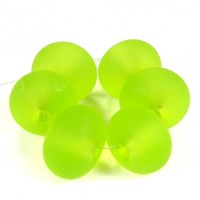 Transparent Light Grass Green Handmade Lampwork Glass Beads 020 Shiny (Choices of Etched, .999 Fine Silver, Shapes, Sizes, Large Hole Beads Extra)