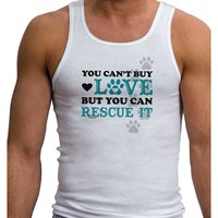 Can't Buy Love Rescue It Mens Ribbed Tank Top