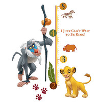 RoomMates The Lion King Peel and Stick Giant Growth Chart - Rafiki